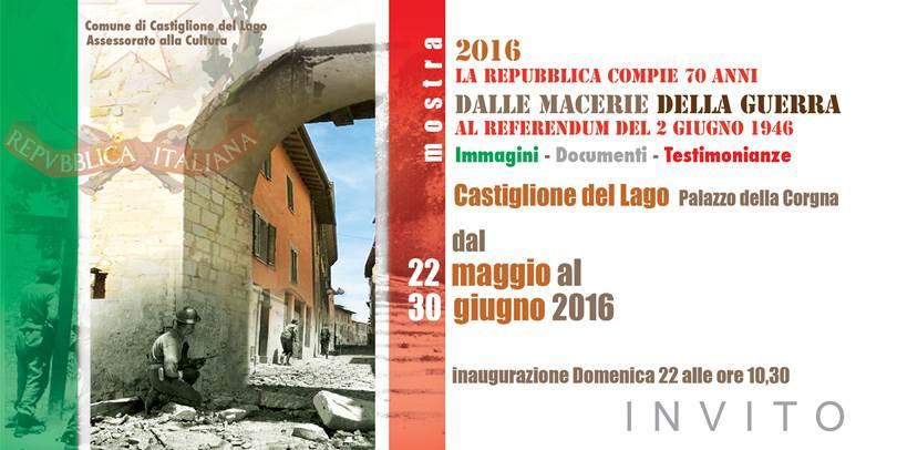 La Repubblica compie 70 anni - mostra Palazzo della Corgna