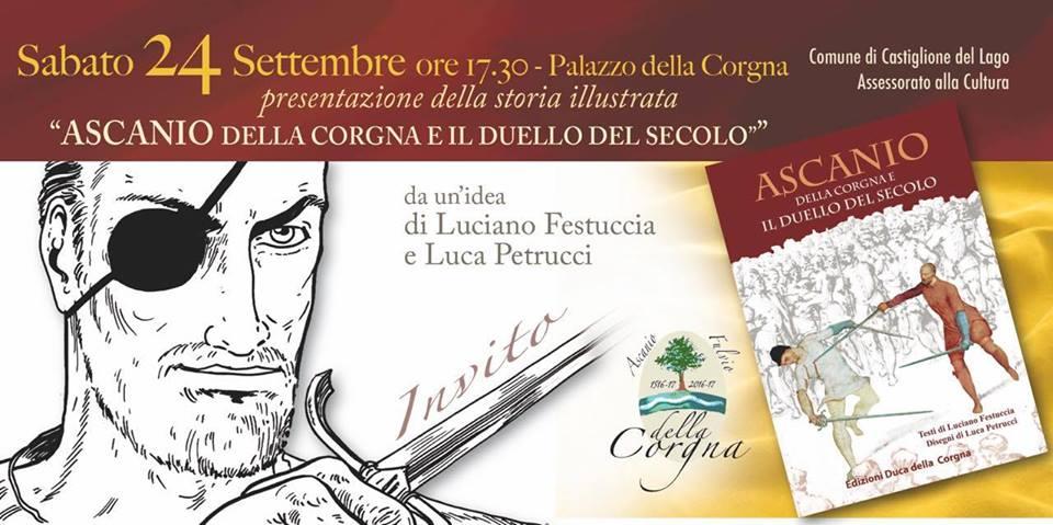 Presentazione della storia illustrata Ascanio della Corgna e il duello del secolo Castiglione del lago